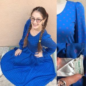 Vintage Anne Get UR Gun 80's Cotton Prairie Dress